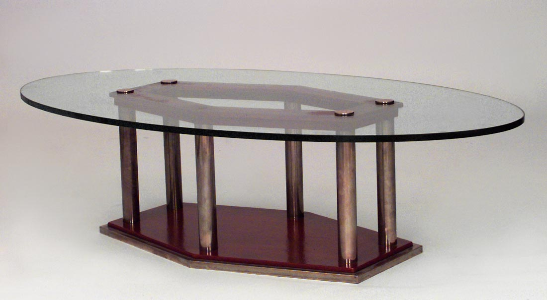 Image of: Art Deco Coffee Table  Glass Oval