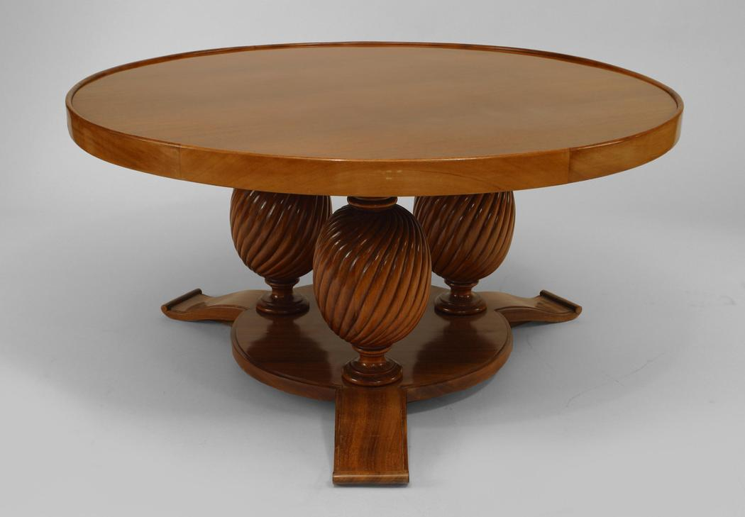 Image of: Art Deco Coffee Table Rounded