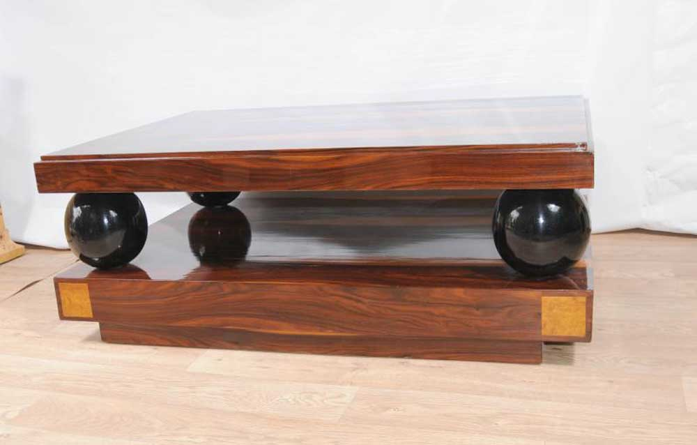 Picture of: Art Deco Coffee Table Squere Ball