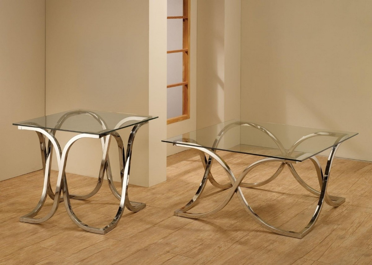 Picture of: Awesome Coffee Table with Metal Legs