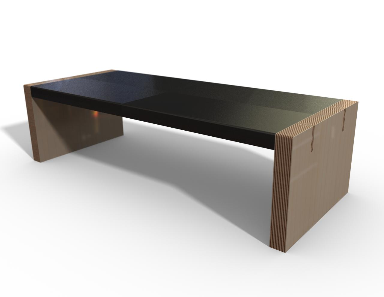 Image of: Awesome Concrete Coffee Table