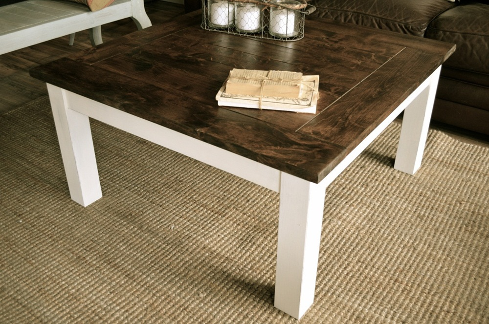 Image of: Awesome Distressed Wood Coffee Table
