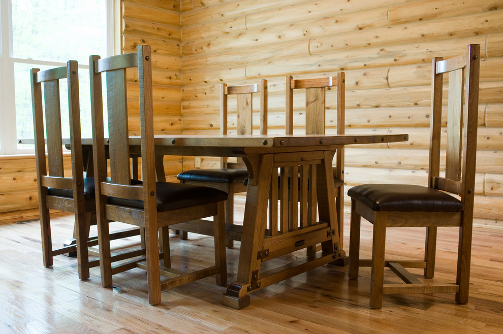 Picture of: Awesome Mission Style Dining Table