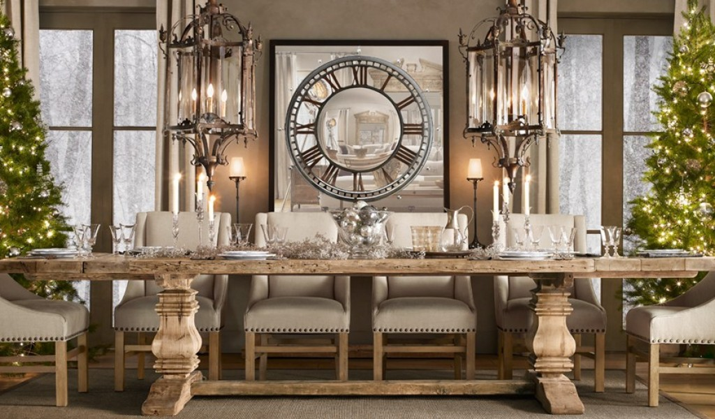 Picture of: Awesome Restoration Hardware Dining Table