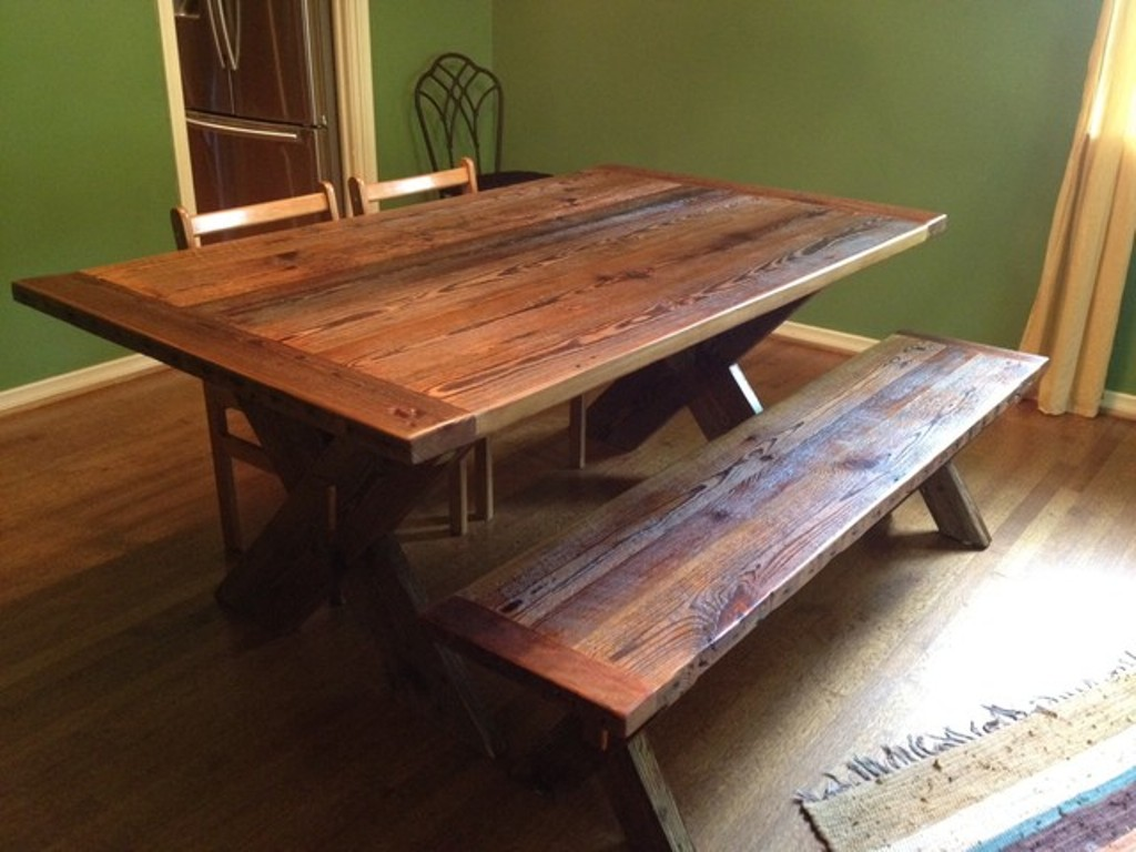 Picture of: barn wood tables plans