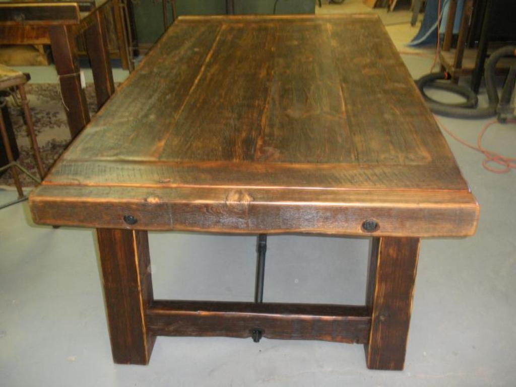 Picture of: barn wood tables and chairs