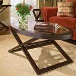 Beautiful Oval Glass Top Coffee Table