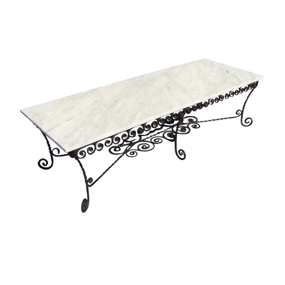 Image of: Beauty Wrought Iron Coffee Table