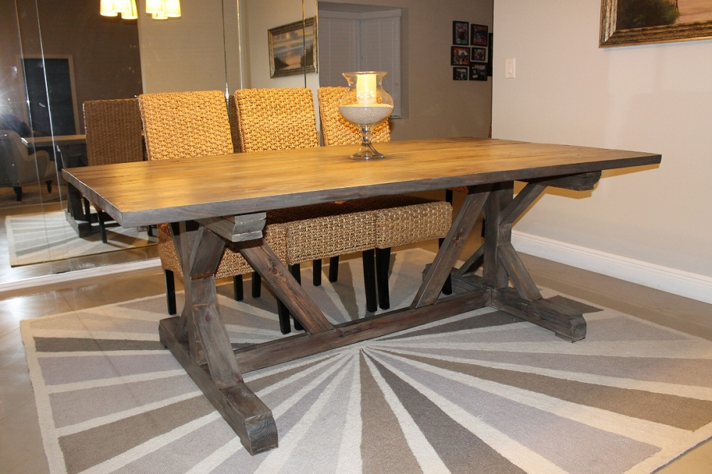 Image of: Beayty Farmhouse Table Ana White