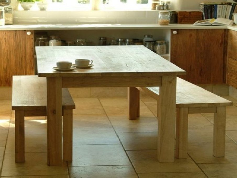 Picture of: Bench dining table and seating