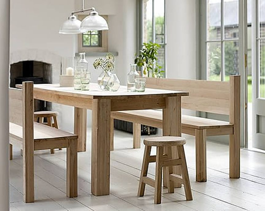 Picture of: Bench dining table plans