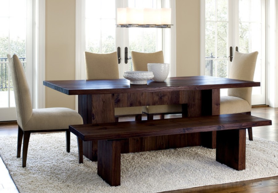 Picture of: Bench dining table set