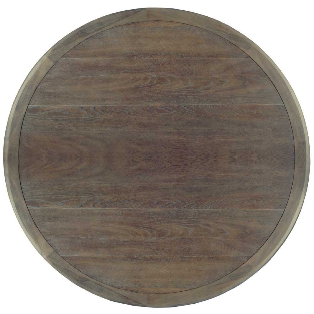 Image of: Bernhardt Round Dining Table with Leaf