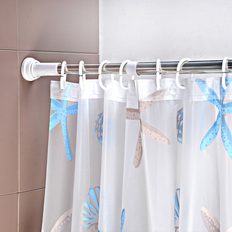 Image of: best adjustable shower curtain rod