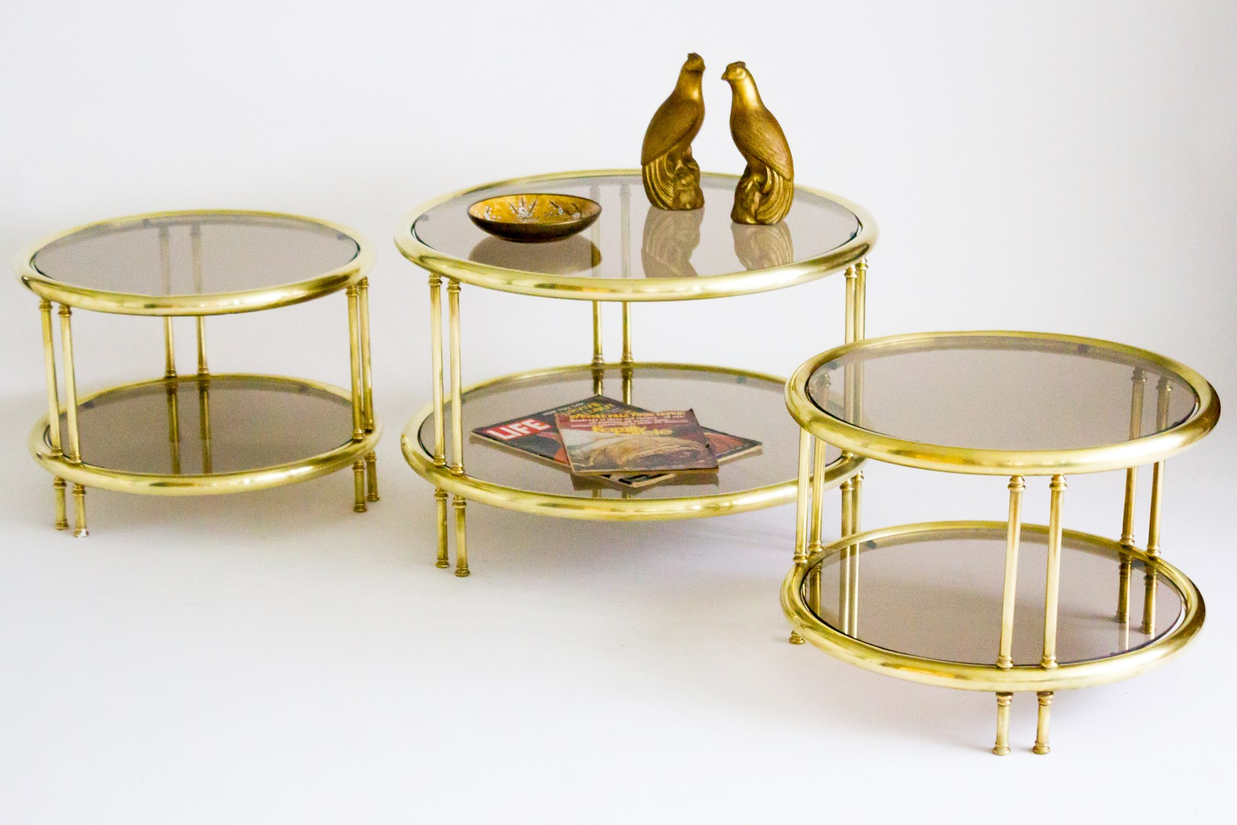 Image of: Best Brass Glass Coffee Table