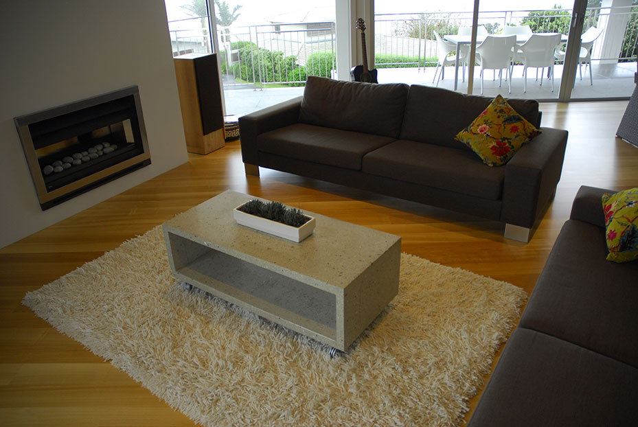 Image of: The Best Concrete Coffee Table