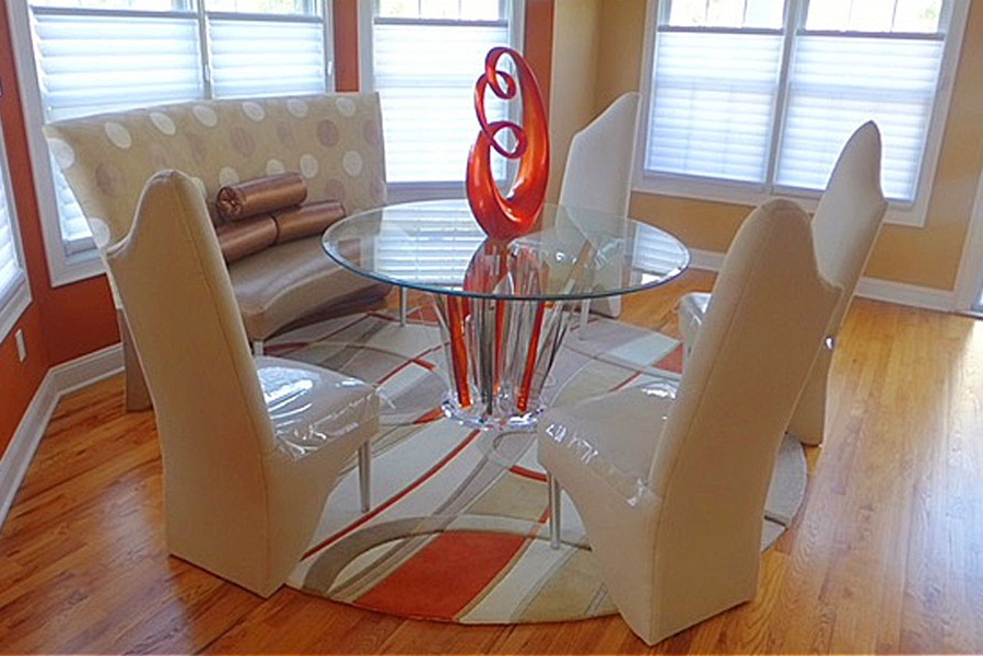 Image of: Best Lucite Dining Table