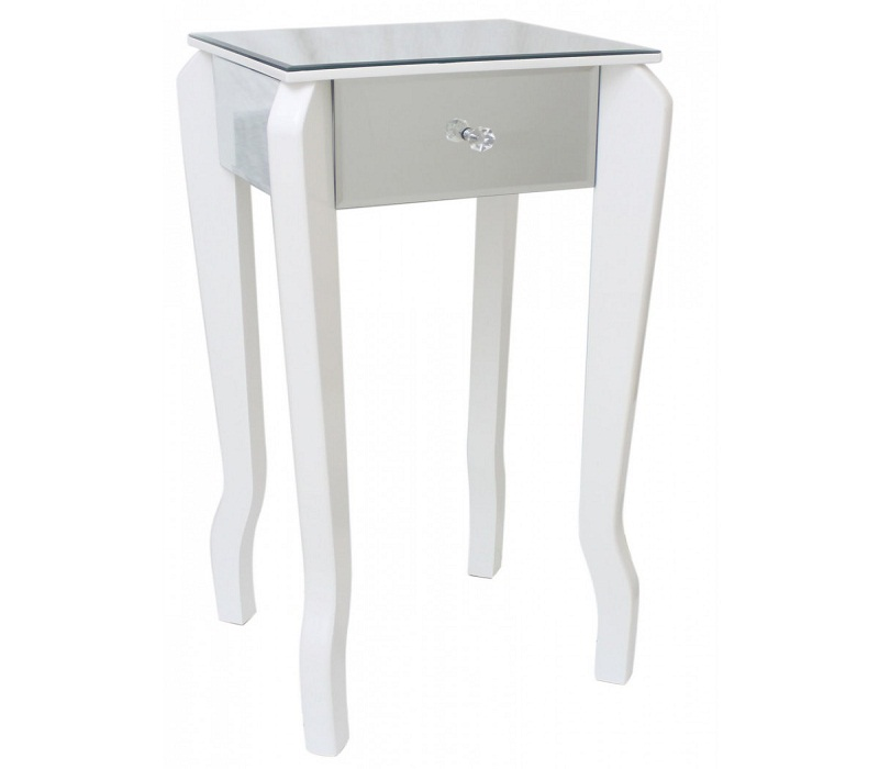 Image of: Best White Bedside Table