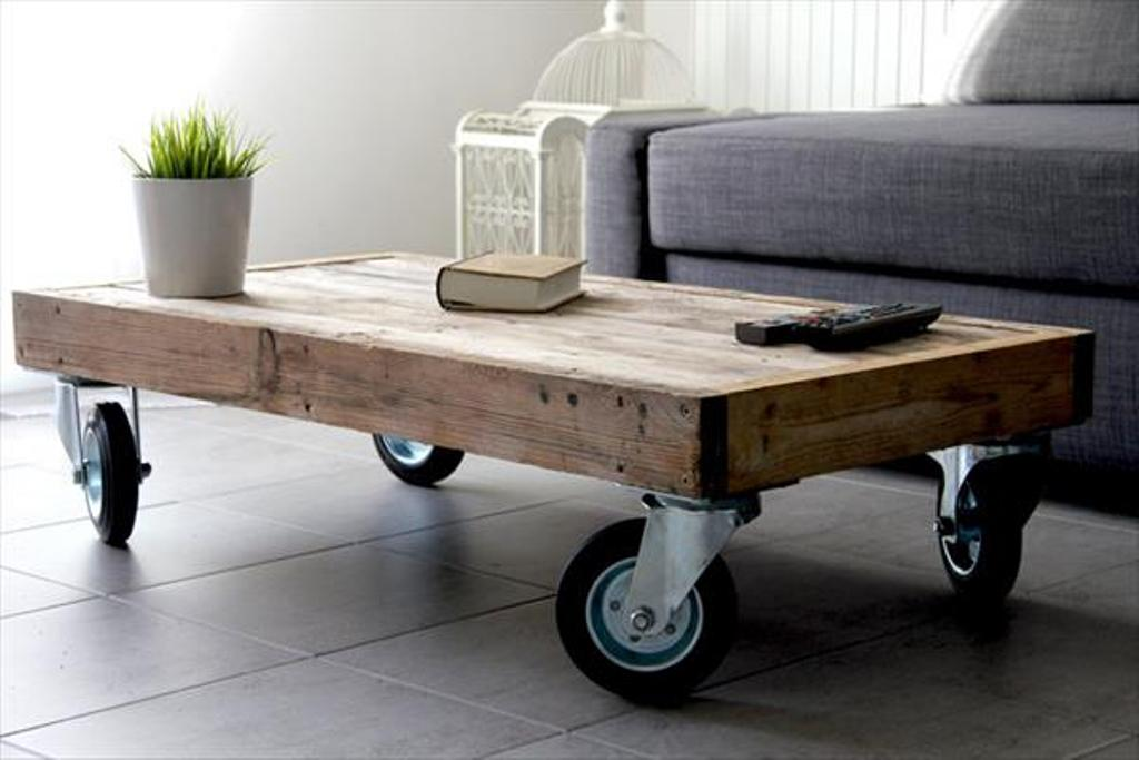 Image of: Black Coffee Table Wheels