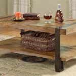 Black Coffee Table With Metal Legs
