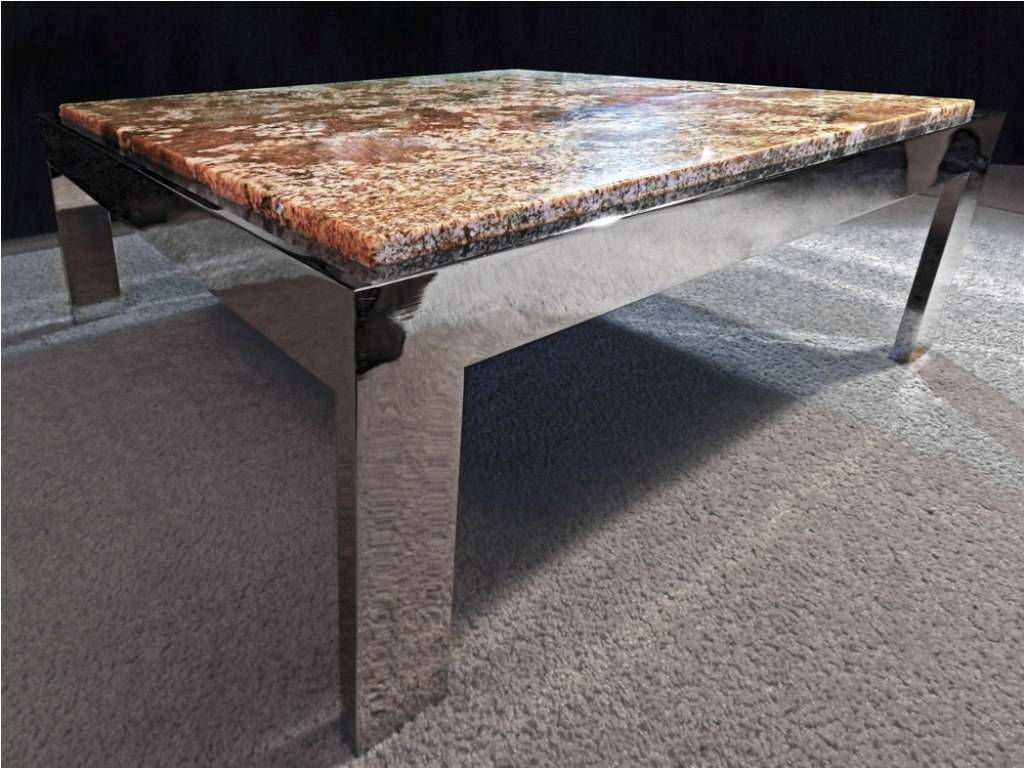 Image of: Black Granite Coffee Table