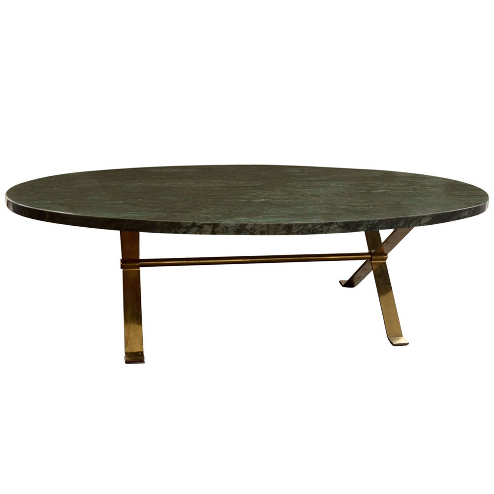 Image of: Black Oval Marble Coffee Table