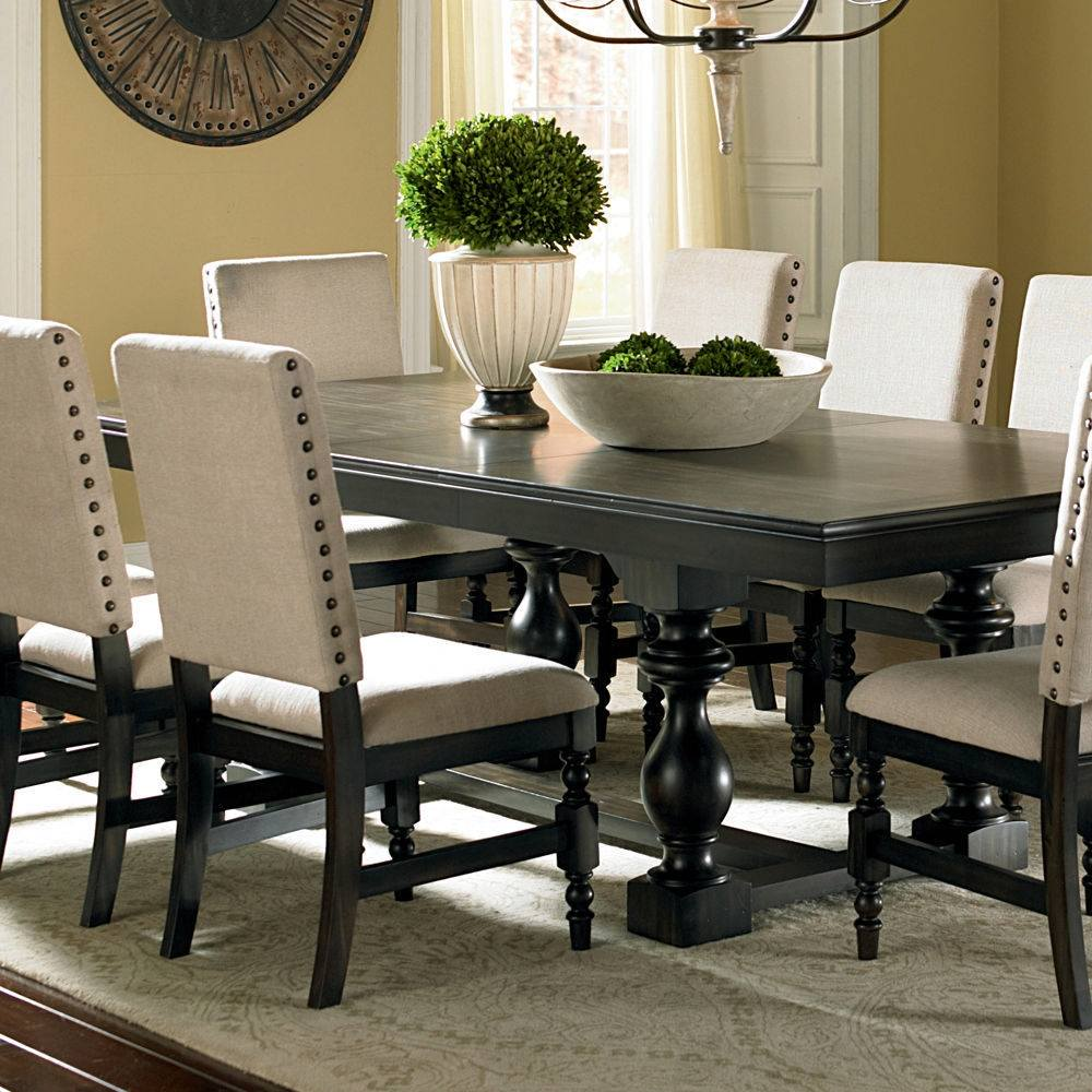 Image of: Black Rectangle Dining Table