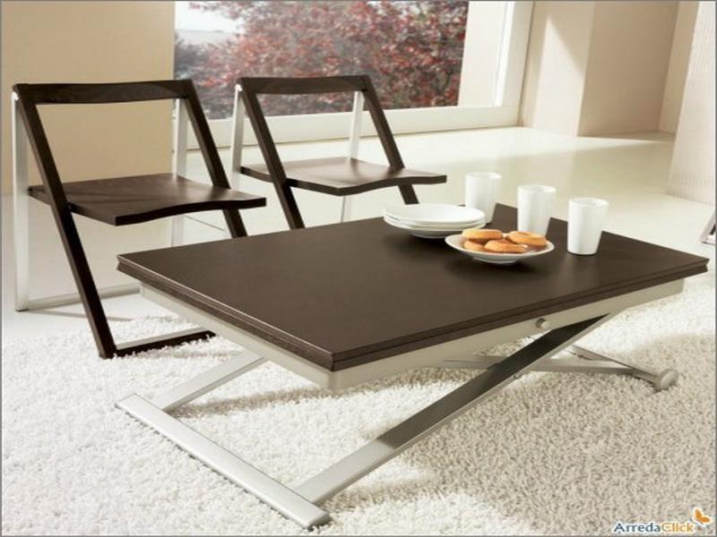 Picture of: Black and White Convertible Coffee Table