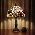 Blue Heron Stained Glass Table Lamp