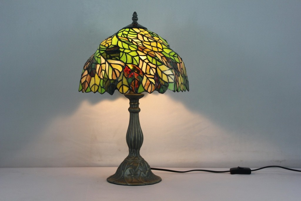Image of: Blue Stained Glass Table Lamp