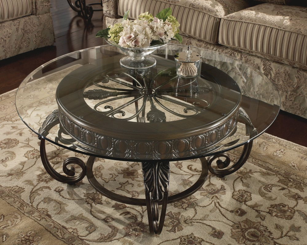 Image of: Brass Glass Coffee Table Bunching
