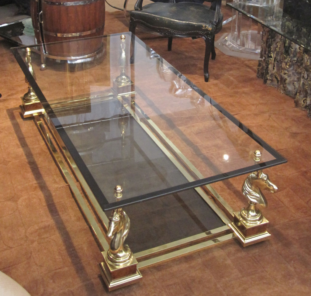 Image of: Bronze Coffee Table Horse Stand