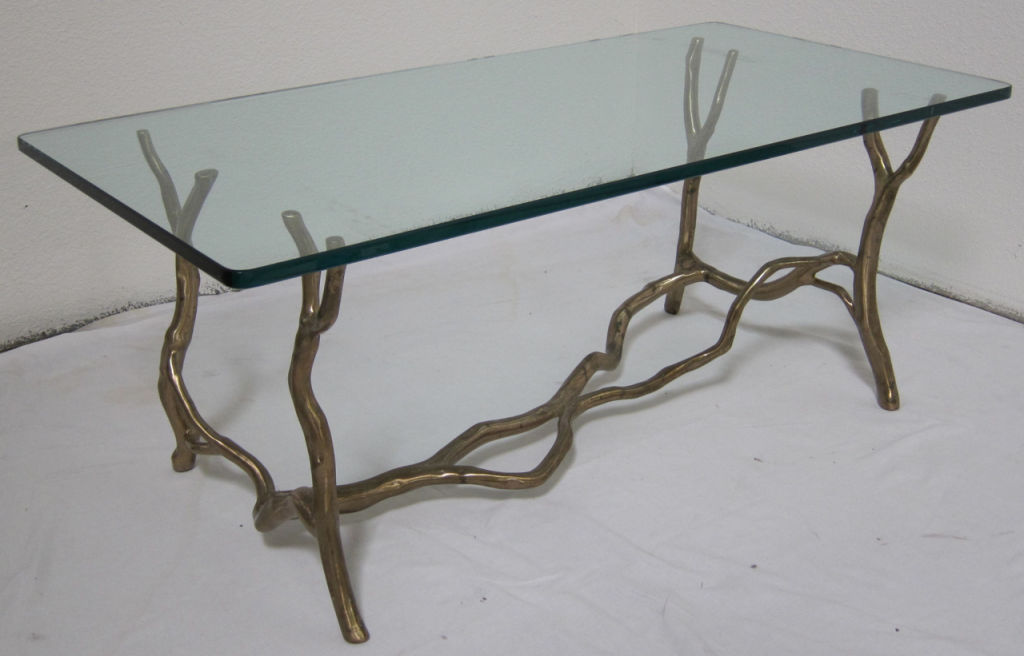 Image of: Bronze Coffee Table Natural Style