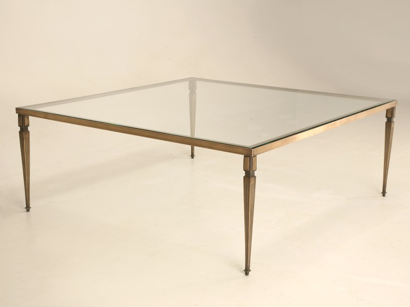 Picture of: Bronze Coffee Table Simple Shape