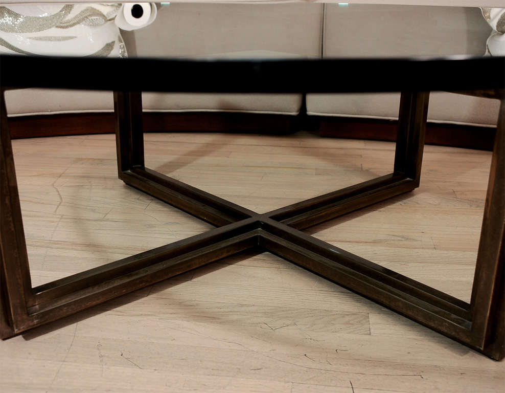 Image of: Bronze Coffee Table Squere