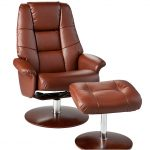 Brown Recliner And Ottoman