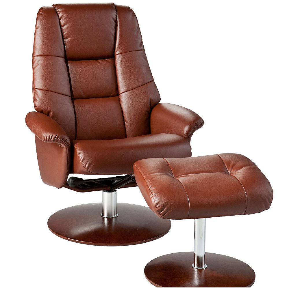 Picture of: Brown Recliner and Ottoman