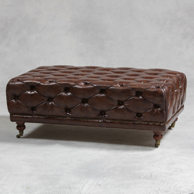 Picture of: The Brown Leather Coffee Table