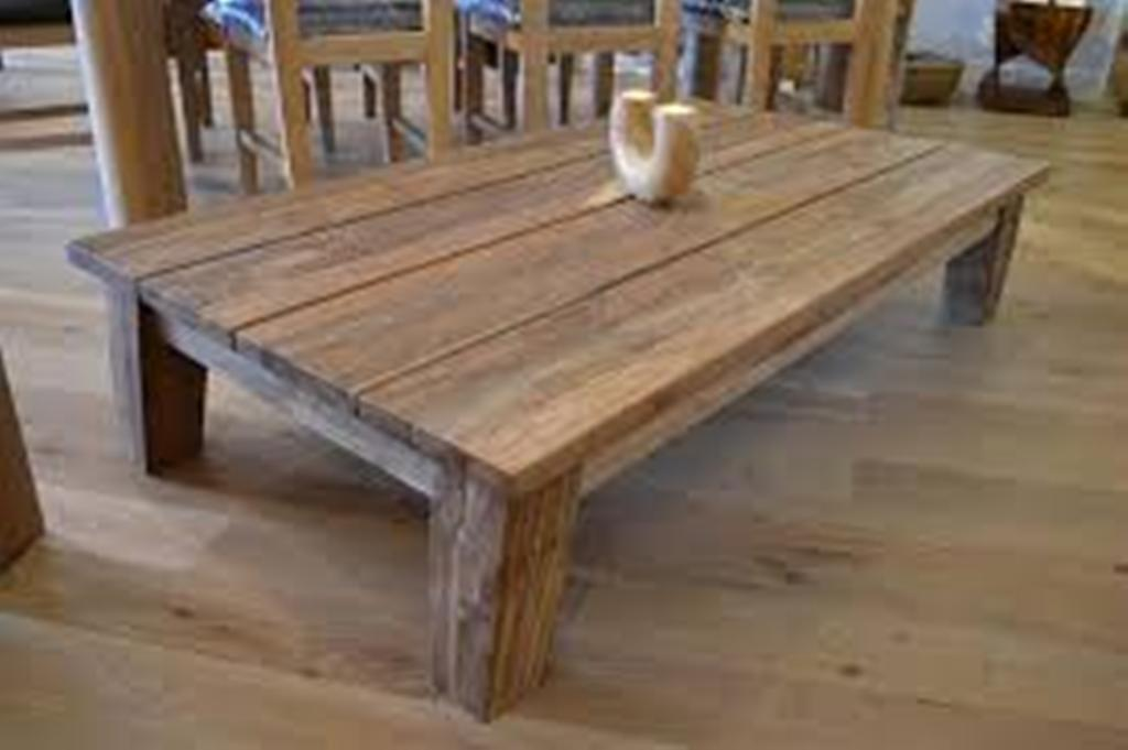 Image of: building a coffee table reclaimed wood