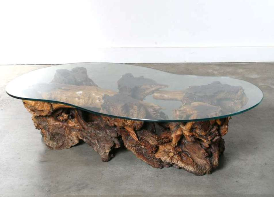 Image of: Burl wood coffee table craigslist