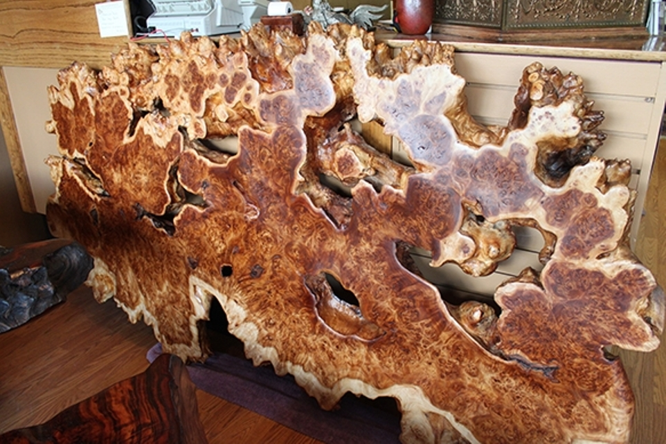 Image of: Burl wood coffee table
