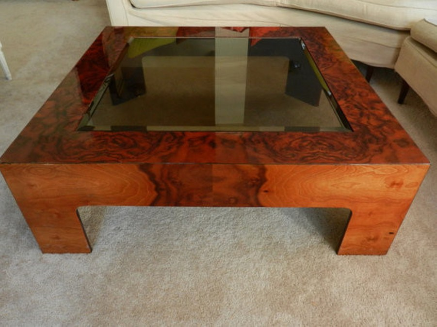 Image of: Burl wood coffee tables for sale