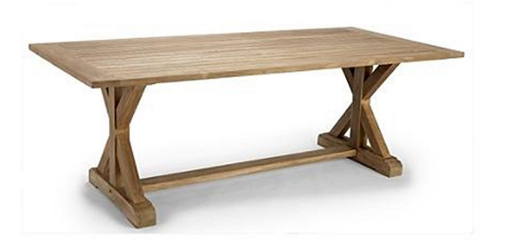 Image of: Campagna Teak Outdoor Dining Table