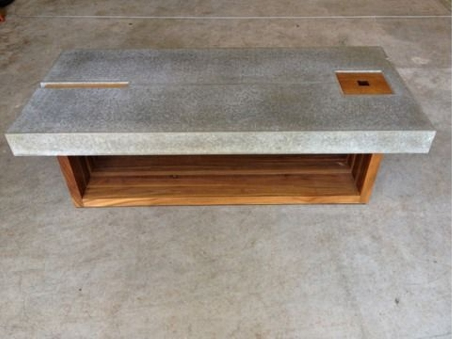 Image of: Cement block coffee table