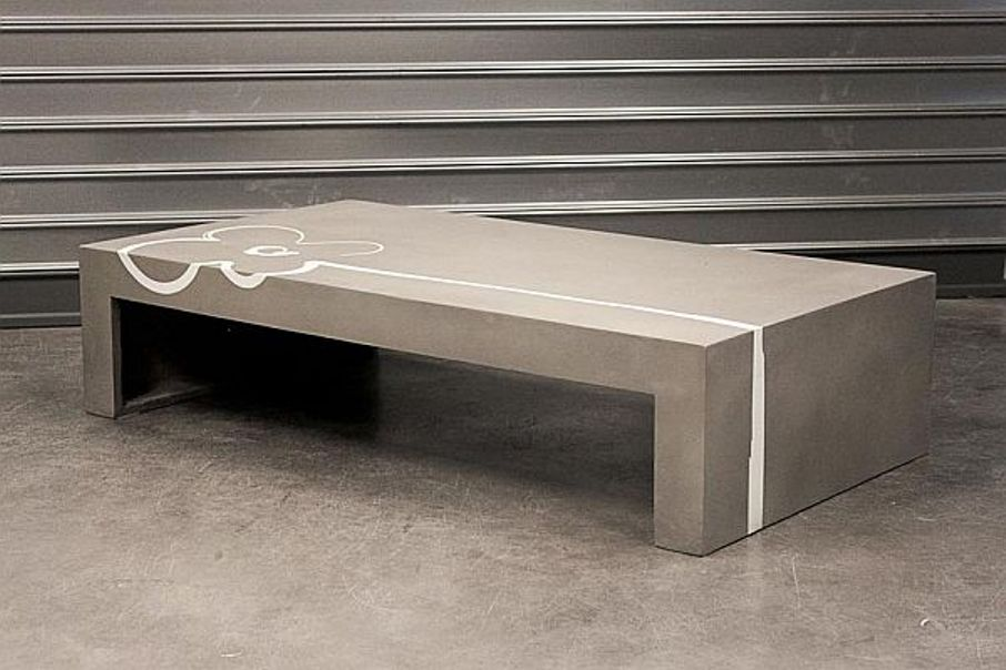 Image of: Cement coffee table diy