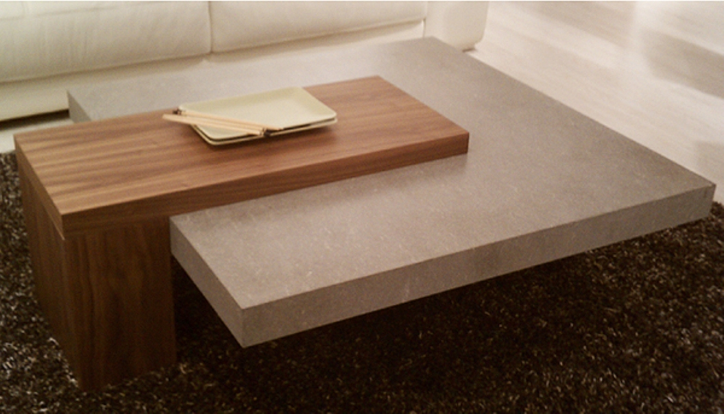 Image of: Cement coffee table