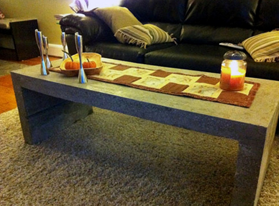 Image of: Cement cube coffee table