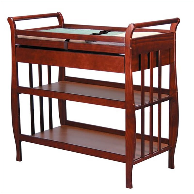 Image of: Cherry Wood Changing Table Models