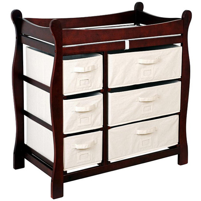Image of: Cherry Wood Changing Table Style