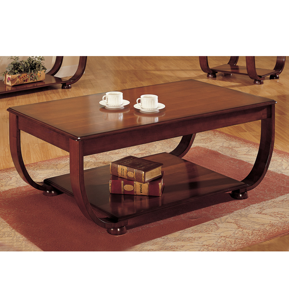Picture of: Cherry Wood Coffee Table Dark Wood